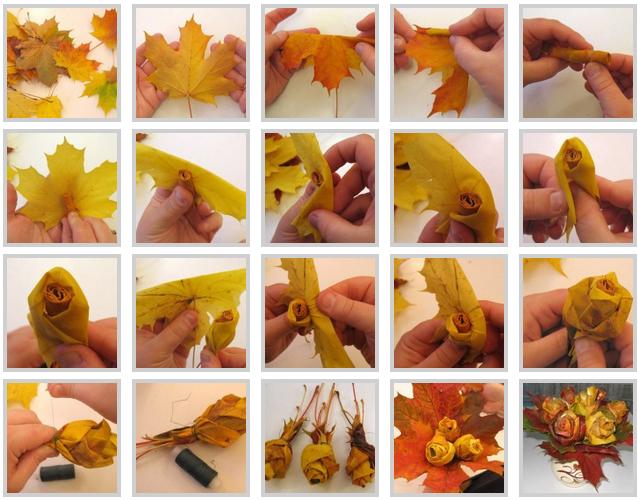 Какие поделки из листьев