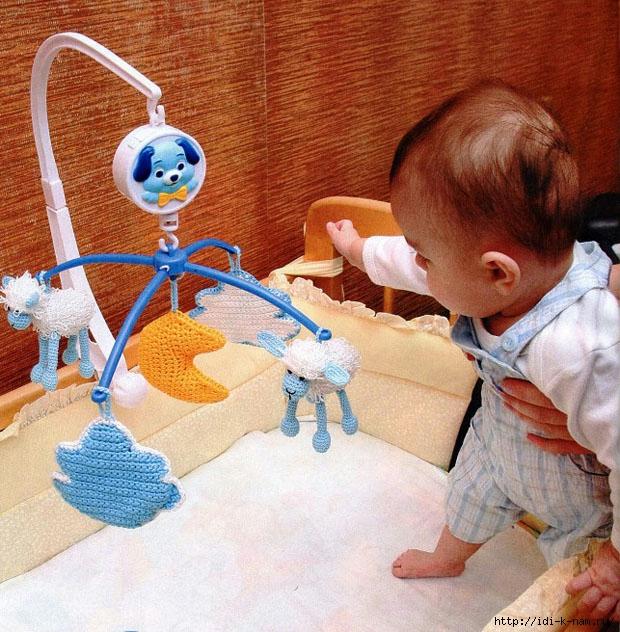 вяжем овечку, вязаная овечка, как связать овечку, схема вязания овечки, как сделать символ 2015 года своими руками, игрушки для детской кроватки своими руками, развивающие игрушки своими руками, Хьюго Пьюго рукоделие вязаная овечка,
