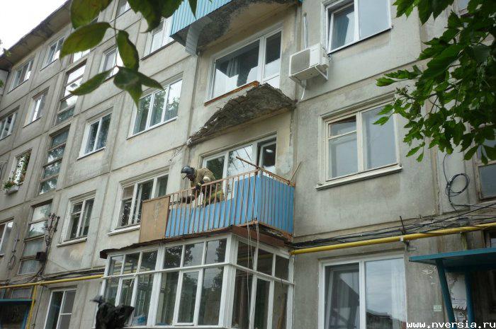 В балаково обрушился балкон жилого дома. обсуждение на livei.