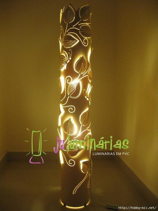 Lumin�ria em PVC - Folhagem trepadeira 150mm (1) (525x700, 250Kb)