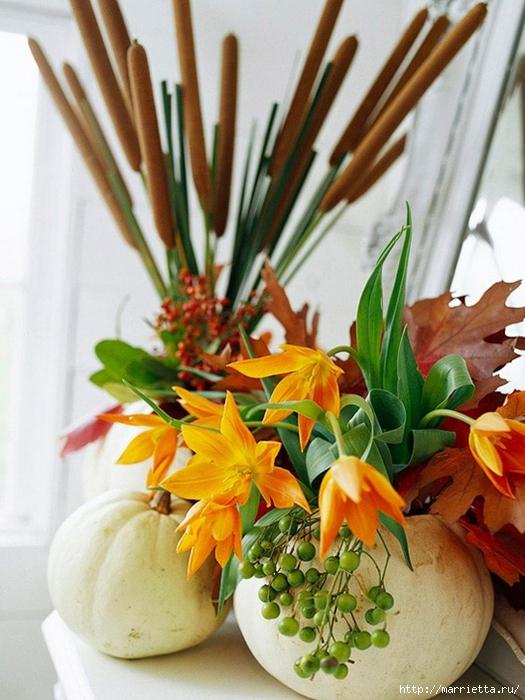 ТЫКВА во флористике. Красивые идеи для оформления осеннего праздника (50) (525x700, 280Kb)