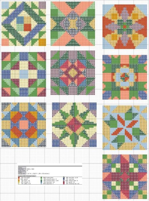 Схемы для пэчворк с вышивкой 4