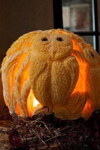 СОВА из тыквы. Идеи декора к Хэллоуину (4) (333x500, 168Kb)