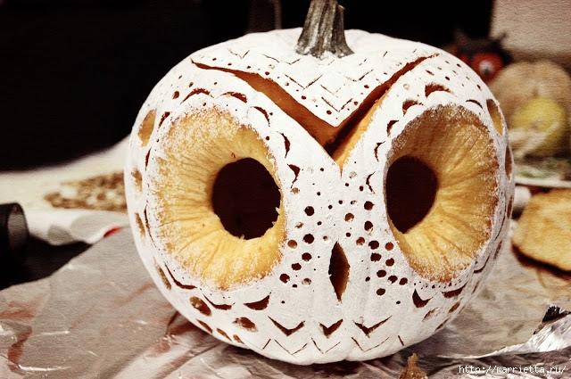 СОВА из тыквы. Идеи декора к Хэллоуину (15) (640x425, 235Kb)