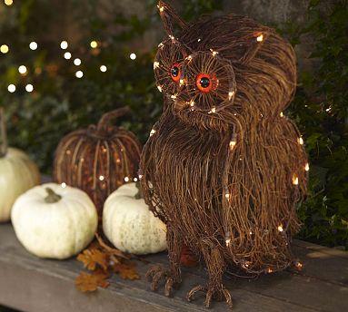 СОВА из тыквы. Идеи декора к Хэллоуину (25) (383x344, 149Kb)
