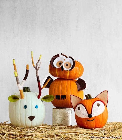 СОВА из тыквы. Идеи декора к Хэллоуину (32) (500x575, 163Kb)