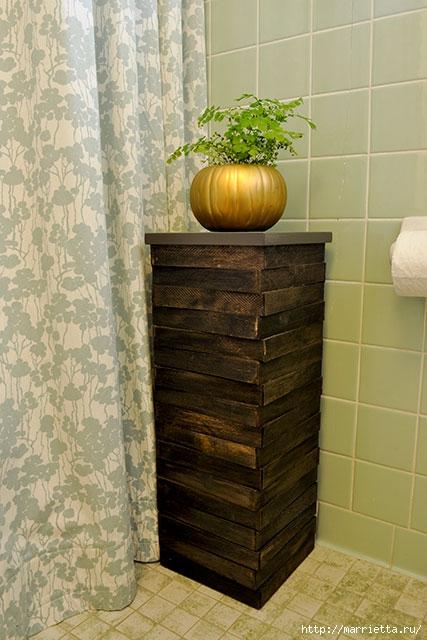 Мебель для ванной комнаты своими руками. Столик и подставка для цветов (24) (427x640, 178Kb)