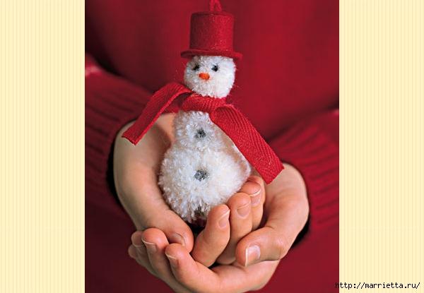 Árboles de navidad y muñecos de nieve de pompones (1) (600x415, 116Kb)