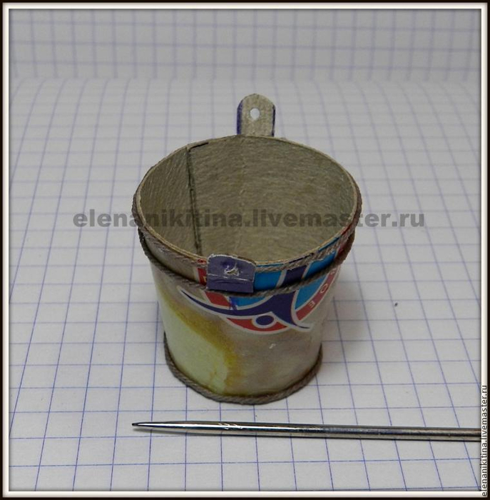 Эмалированное ведерко из картона для миниатюры (7) (687x700, 315Kb)