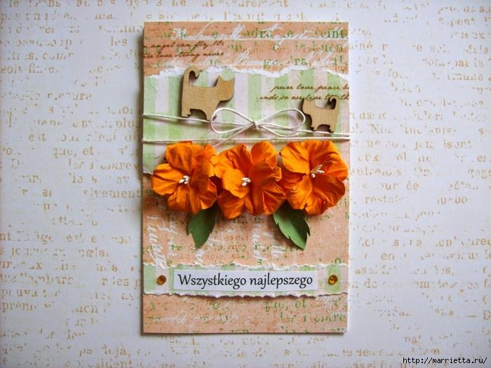 Бумагопластика. Цветы из бумаги для открыток ручной работы (1) (700x525, 322Kb)