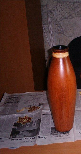 Напольный светильник своими руками - из вазы и шпагата (4) (339x640, 145Kb)