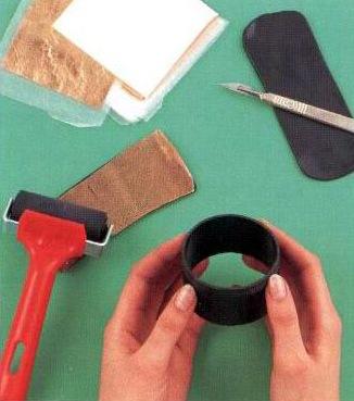 Браслет из пластиковой трубы и полимерной глины (1) (326x369, 110Kb)