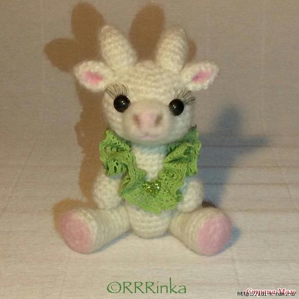 вязаная коза, как связать козу, схема вязания козы, как сделать символ 2-15 года своими руками! Хьюго Пьюго вязаная козочка,