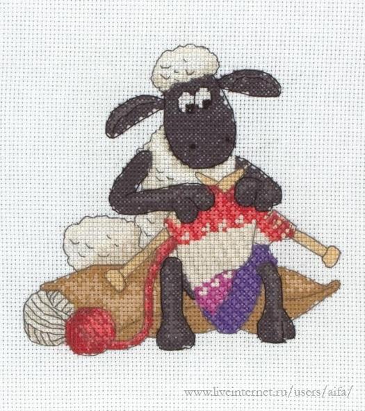 Вышивка крестом, схемы Овечка