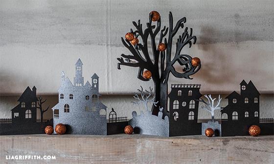 Жуткая деревня из бумаги. Идея к Хэллоуину (3) (560x335, 201Kb)