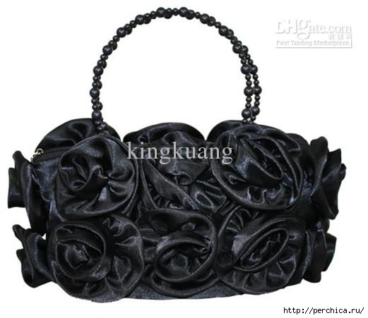 Large rose flower red handbag new handbags,Valentine's Day wedding bag,fashionable handbag (521x451, 81Kb)