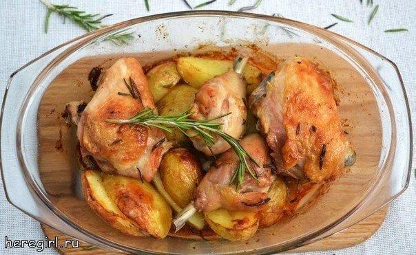 курица в духовке с картошкой рецепты с фото