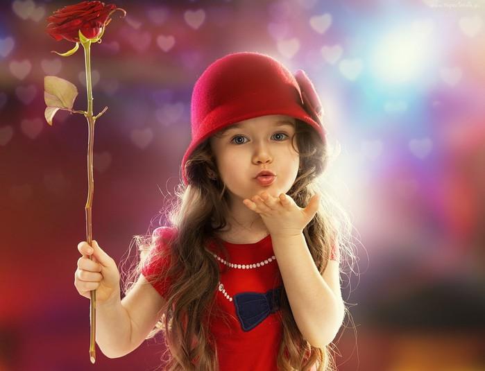 207337_dziecko_dziewczynka_pocalunek_roza_bokeh (700x535, 66Kb)