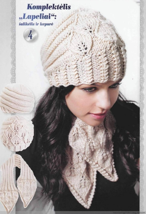 Много красивых шапок. Схемы вязания