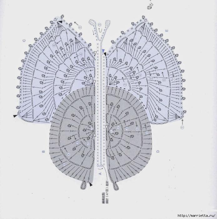 Схема бабочки крючком (2) (694x700, 261Kb)