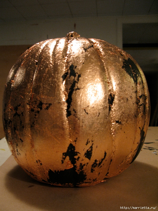 Декоративная тыква с эффектом состаренного металла (5) (525x700, 316Kb)