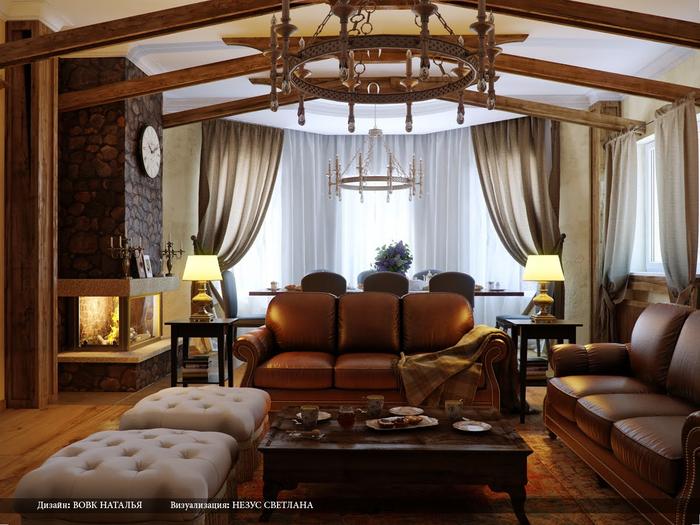 Гостиная в стиле кантри (7) (700x525, 414Kb)