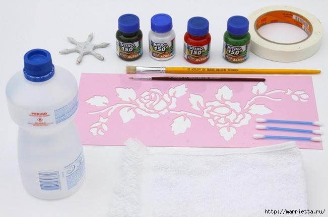 Rosas románticas espejo.  La idea de la pintura (2) (651x432, 124Kb)