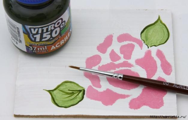 Rosas románticas espejo.  La idea de la pintura (6) (627x399, 112Kb)