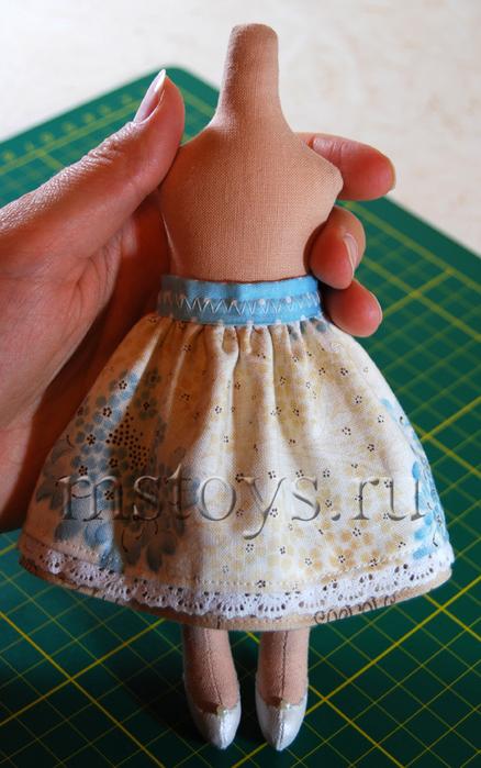 Как сделать красивую юбку для куклы