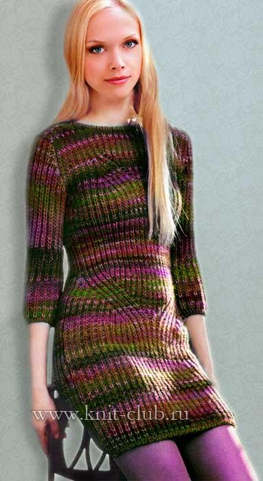 Платье 42 размера спицами