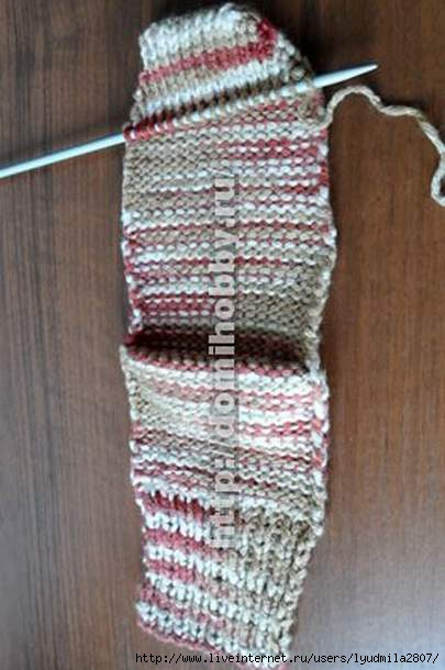 Вязание двумя цветами спицами новую нить