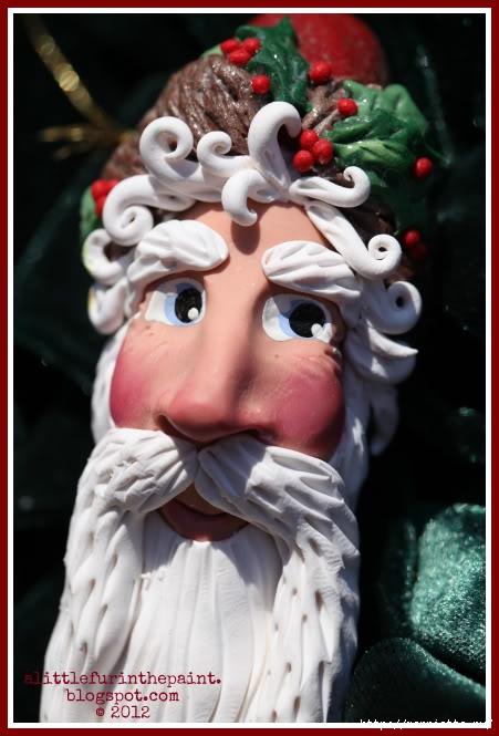 Новогодняя подвеска Санта Клаус из полимерной глины (28) (451x665, 152Kb)