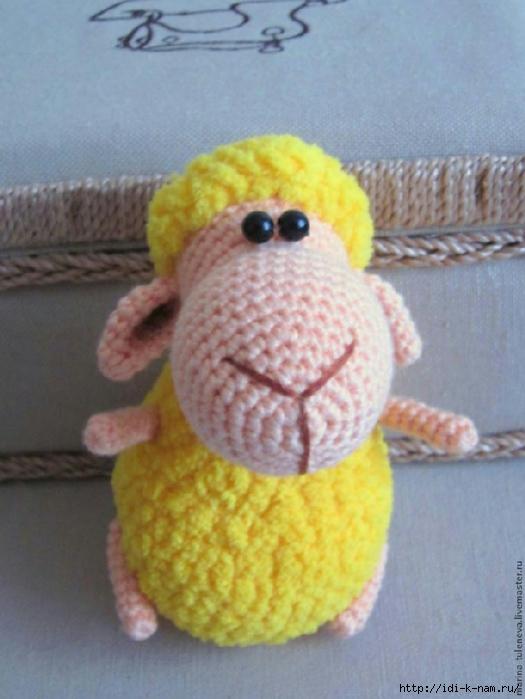 вязаная овечка, как связать овечку, схема вязания овечки, фото мастер класс по вязанию овечки, как сделать символ 2015 года своими руками, Хьюго Пьюго вязаная овечка,
