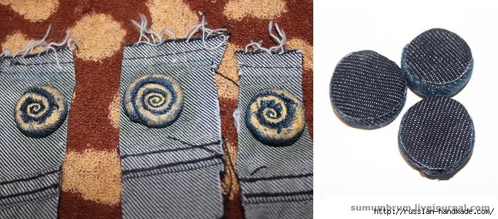 Джинсовое ожерелье из ракушек, бисера и бусин (11) (700x308, 233Kb)