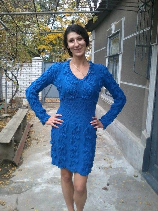 вязаное платье от Galina Pehitsa (525x700, 99Kb)