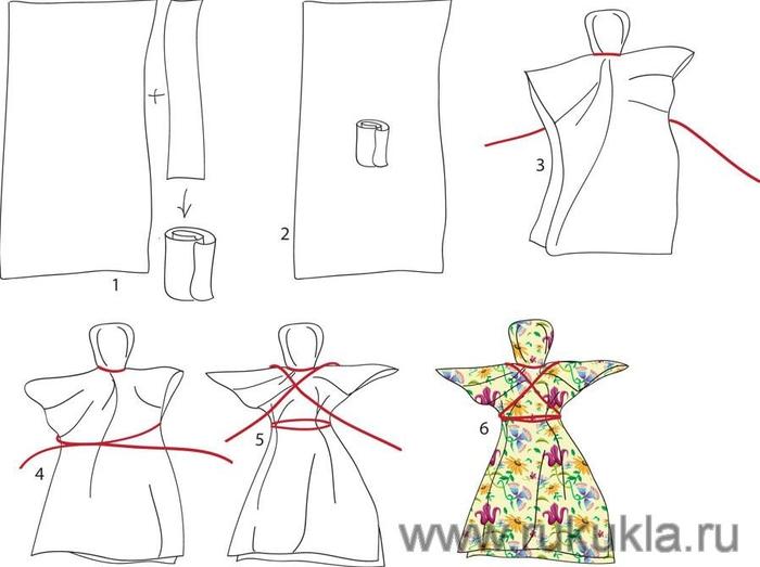 Как сделать русскую куклу своими руками