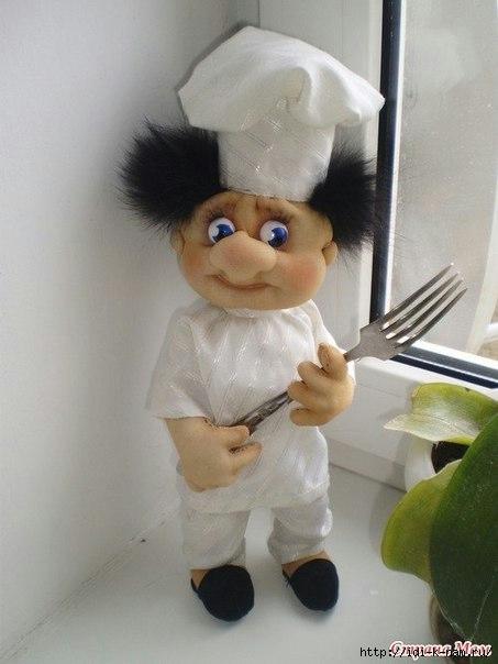колготочные куклы, как сделать куклу поваренка из капрона, Хьюго Пьюго капроновые куклы,