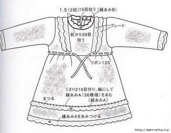 Платье для девочки крючком (5) (596x464, 132Kb)