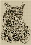 Превью сова сепия 8 250х (490x700, 498Kb)