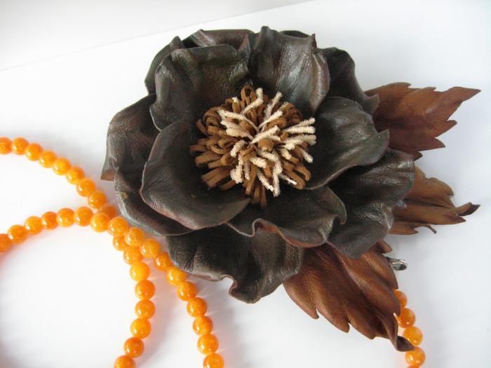 Цветы из кожи мастер класс ирины влади