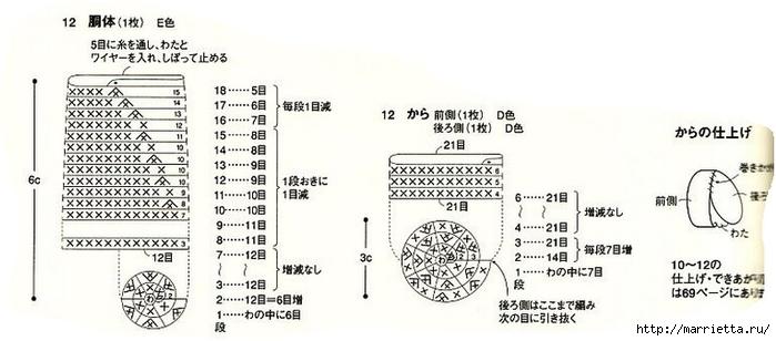 Амигурами. Улитки и лягушка (2) (700x308, 133Kb)