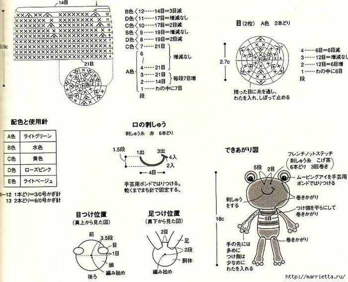 Амигурами. Улитки и лягушка (4) (700x568, 255Kb)