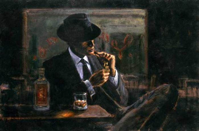 Fabian Perez 1967 - Argentine Figurative painter - Male Painting - Tutt'Art@ (16) (700x462, 35Kb)