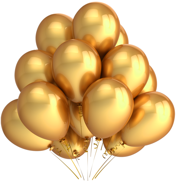 Transparent_Gold_Balloons_Clipart (582x600, 307Kb)