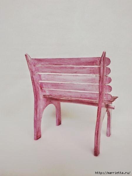 Для кукол. Садовая скамейка из палочек от мороженого (31) (450x600, 62Kb)