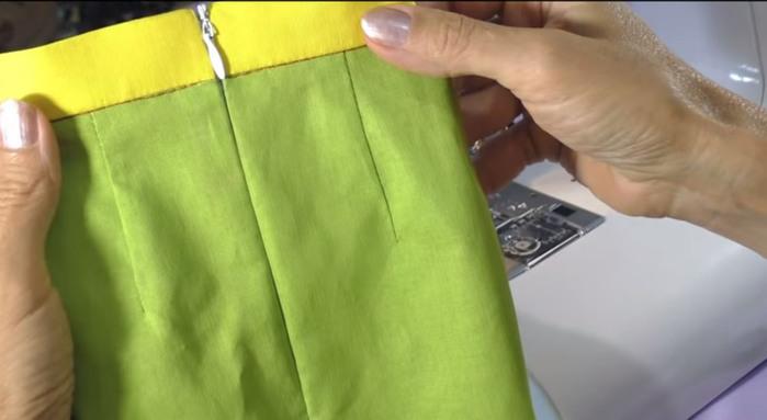 Как вставить потайную молнию в юбку