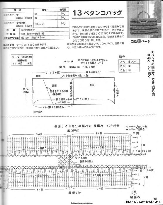 Корзинка и сумки крючком из полиэтиленовых пакетов (40) (556x700, 243Kb)