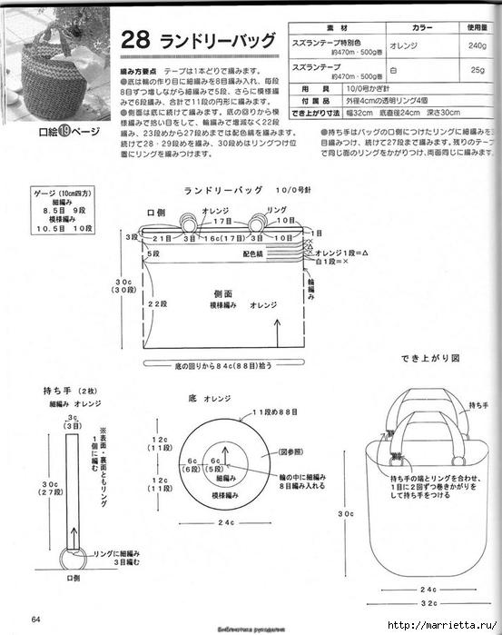 Корзинка и сумки крючком из полиэтиленовых пакетов (60) (553x700, 194Kb)