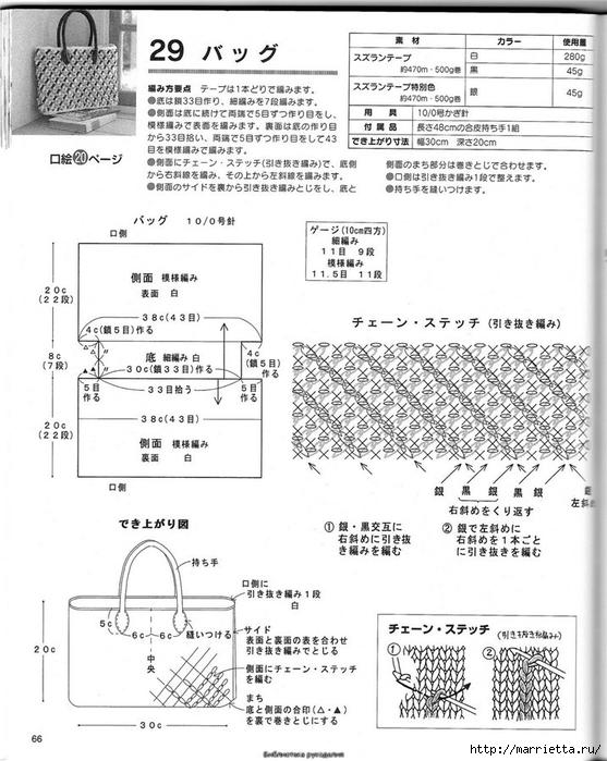 Корзинка и сумки крючком из полиэтиленовых пакетов (62) (557x700, 246Kb)