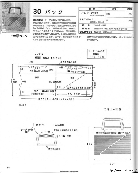 Корзинка и сумки крючком из полиэтиленовых пакетов (64) (556x700, 183Kb)
